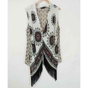 West Kei Boho Kimono With Tassels